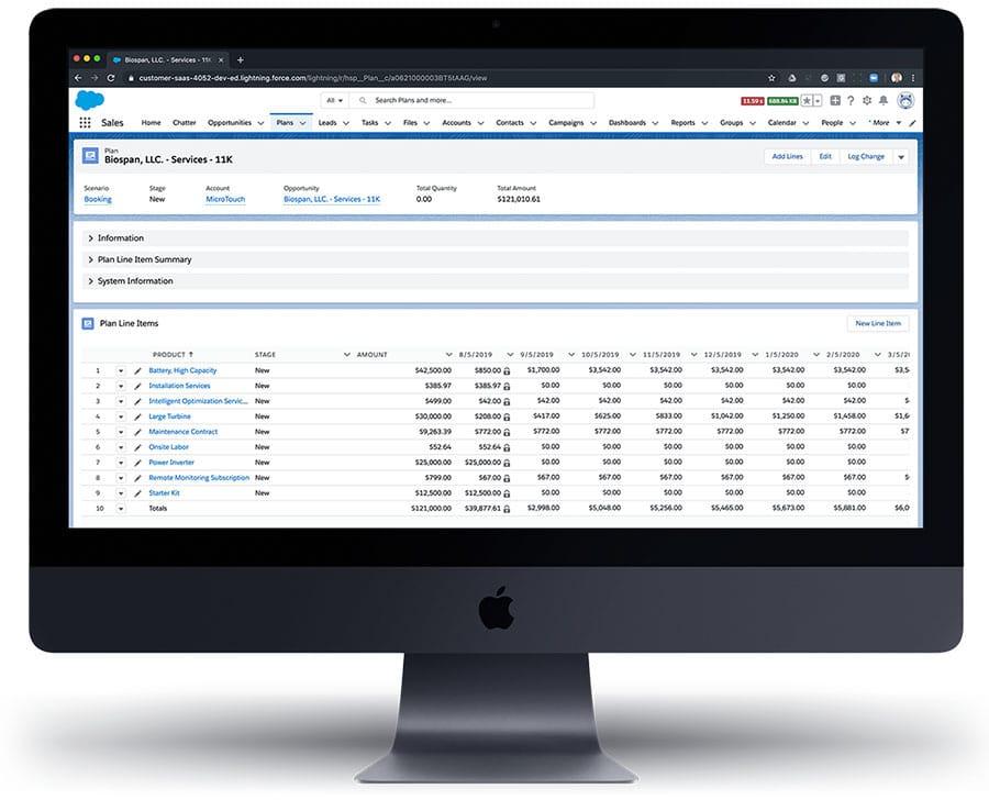 revVana Plan - Sales Booking Management & Revenue Forecasting